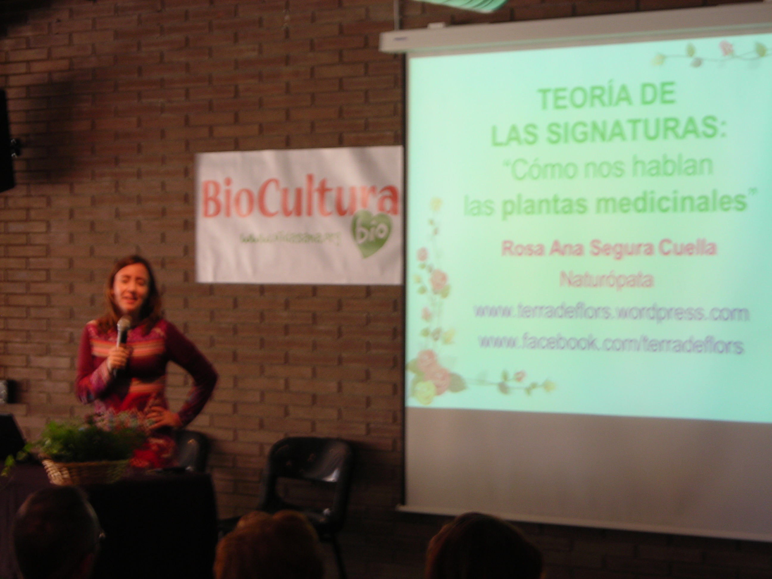 conferencia biocultura Rosa Ana Segura Cuella